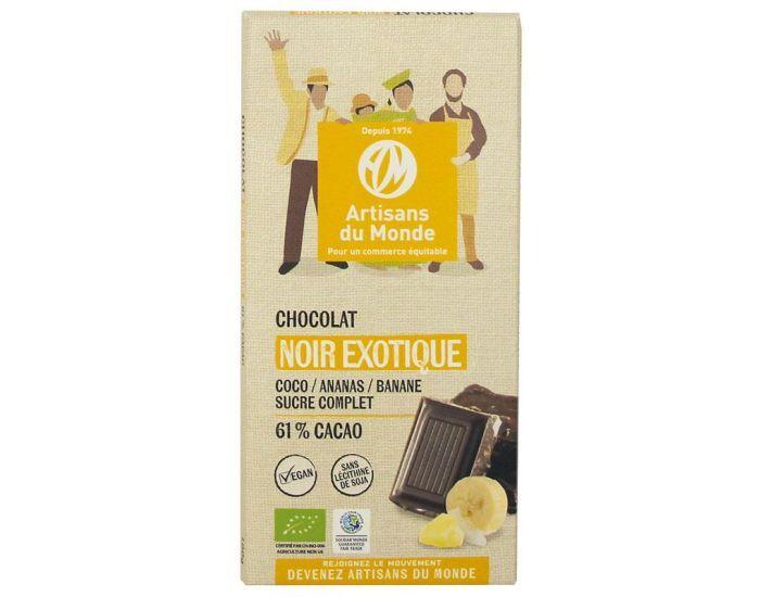 ARTISANS DU MONDE Chocolat Noir Equitable et Bio Exotique - 100gr