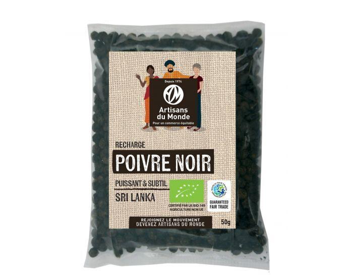 ARTISANS DU MONDE Recharge Poivre Noir Bio - 50g