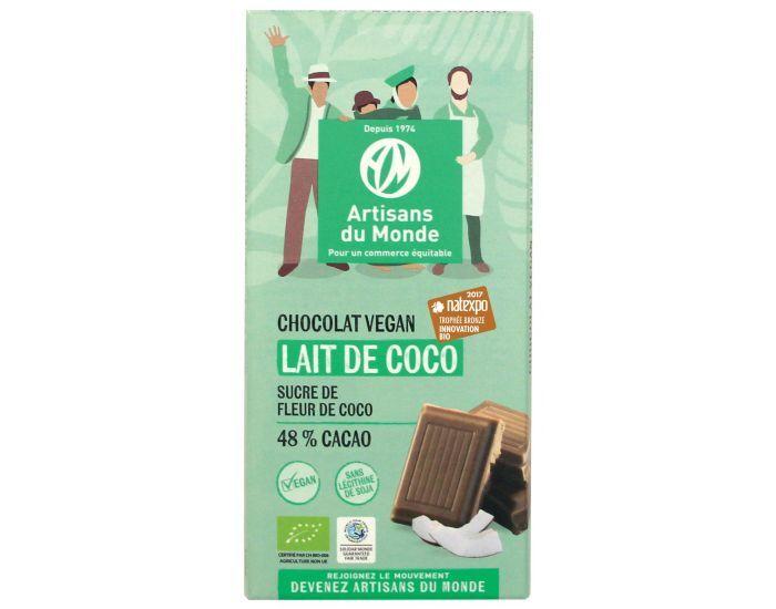 ARTISANS DU MONDE Chocolat Vegan Bio au Lait de Coco - 100g