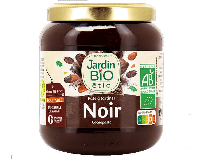JARDIN BIO Pâte à Tartiner Noire Forte en Cacao - 350g