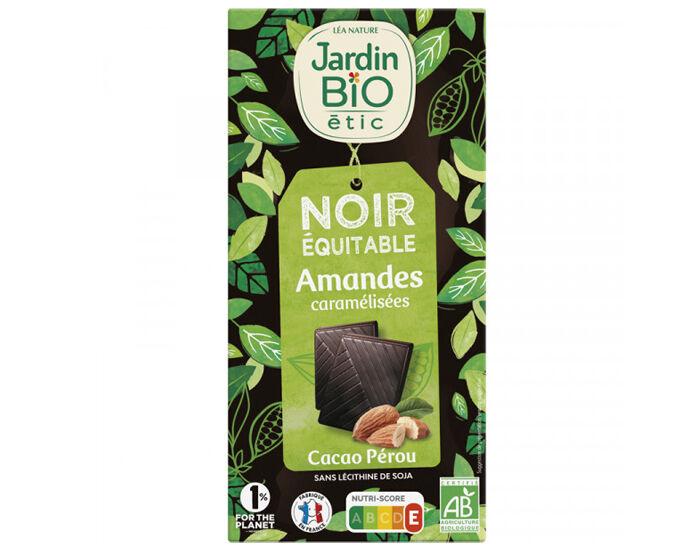 JARDIN BIO Chocolat Noir Amandes - 100g