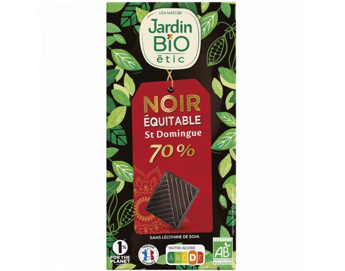 JARDIN BIO Chocolat Noir Dégustation 70% Cacao - 100g