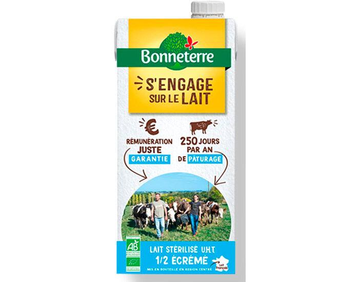 BONNETERRE Lait UHT 1/2 Ecrémé - 1 L
