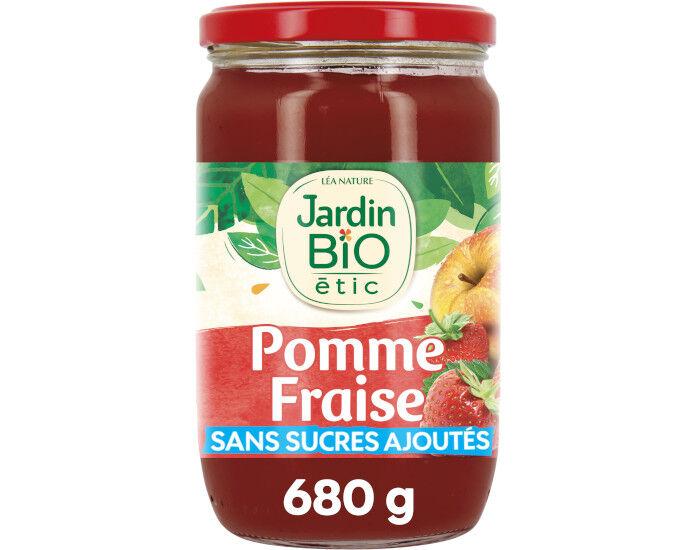 JARDIN BIO Dessert Biofruits Pomme Fraise - 680 g
