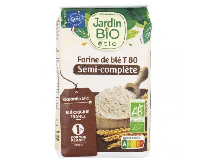 JARDIN BIO Farine Semi Complète T 80 - 1 kg