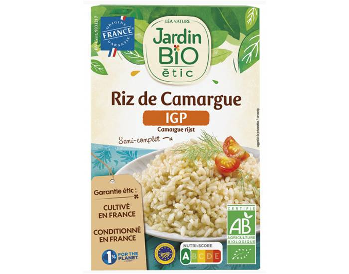JARDIN BIO Riz de Camargue Semi Complet - 500 g