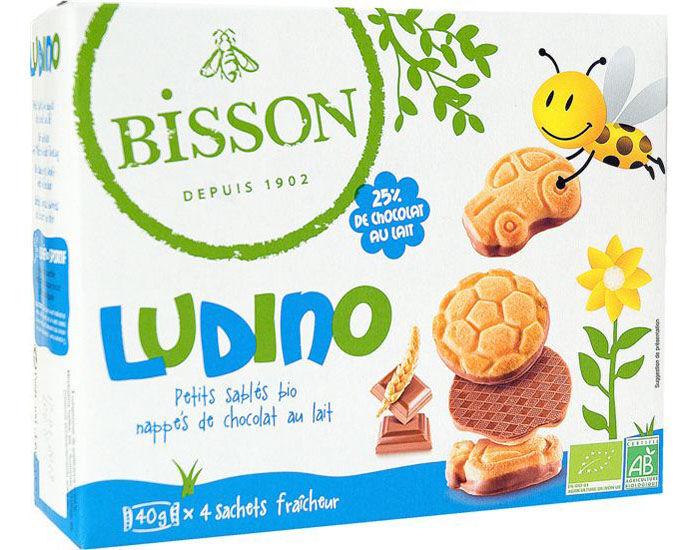 BISSON Ludino Mini Nappés au Chocolat au Lait Sans Huile de Palme - 160 g
