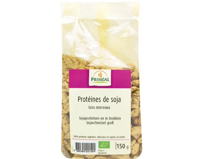 PRIMEAL Protéines de Soja Gros Morceaux - 150 g