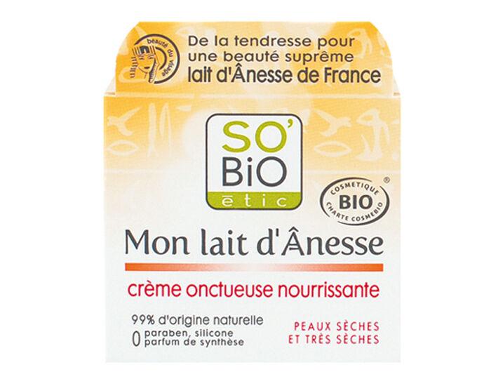 SO'BIO Crème Onctueuse Nourrissante Mon Lait d'Anesse - 50 ml