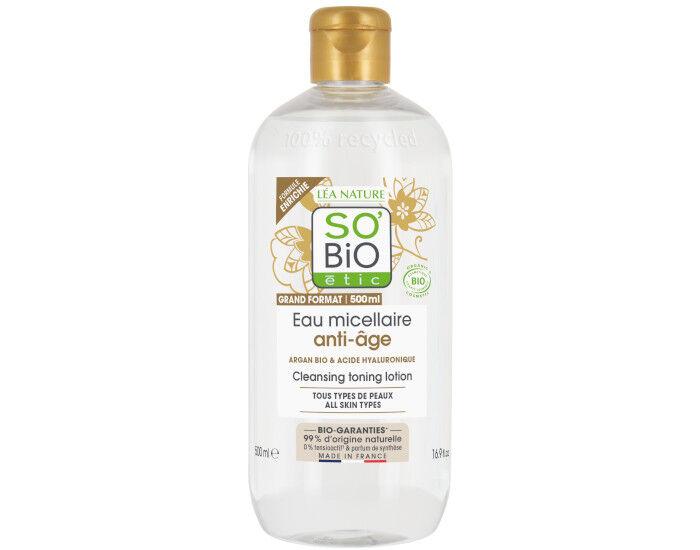 SO'BIO Eau Micellaire Anti-âge à l'Argan Bio - 500 ml