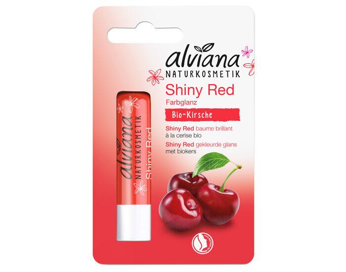ALVIANA Baume à Lèvres Rouge Satiné Brillant - 4.5 g