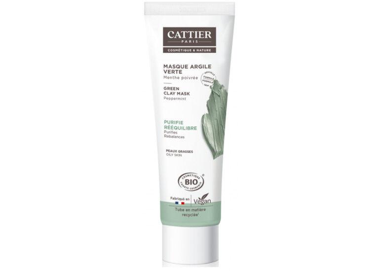 CATTIER Masque Argile verte - Menthe - 100 ml
