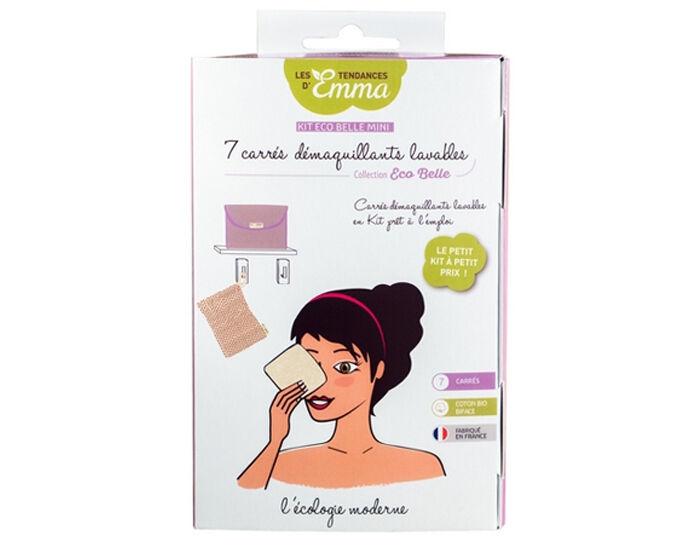 LES TENDANCES D'EMMA Kit Eco Belle Mini 7 Carrés- Coton Bio Biface