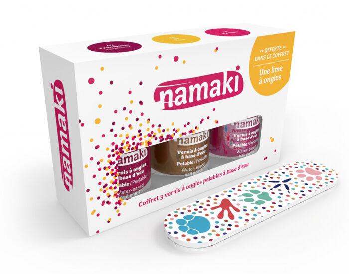 NAMAKI Coffret 3 Vernis Framboise - Or - Fuschia