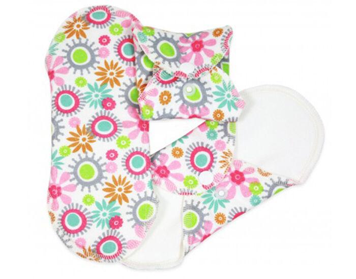 IMSEVIMSE Serviettes Hygiéniques Lavables Fleurs - Lot de 3 Mini