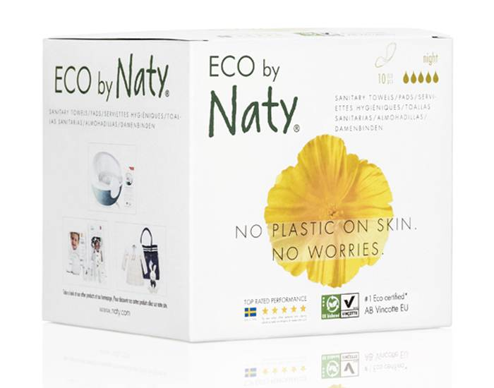 NATY Pack X3 Serviettes Hygiéniques Night