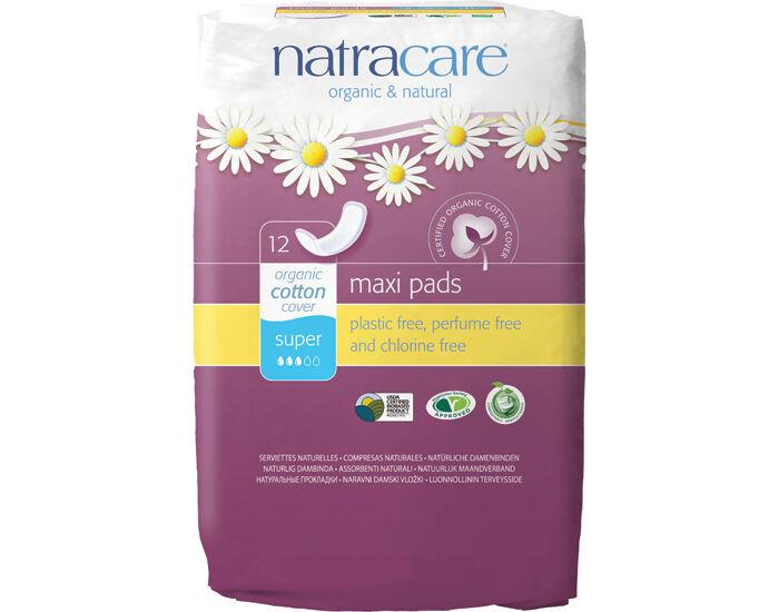 NATRACARE Pack Serviettes Hygiéniques - Super 3 x 12 serviettes