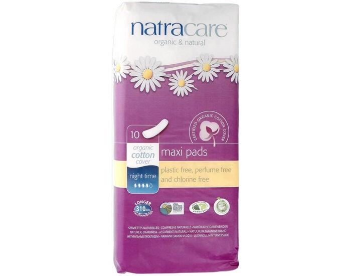 NATRACARE Pack Serviettes Hygiéniques - Nuit 6 x 10 serviettes