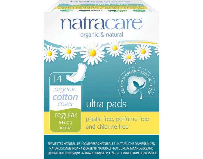 NATRACARE Pack Serviettes Hygiéniques Ultra à Ailettes - Normal 6 x 14 serviettes