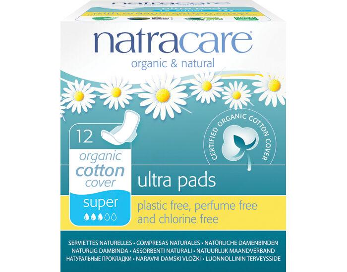 NATRACARE Pack Serviettes Hygiéniques Ultra à Ailettes - Super 6 x 12 serviettes