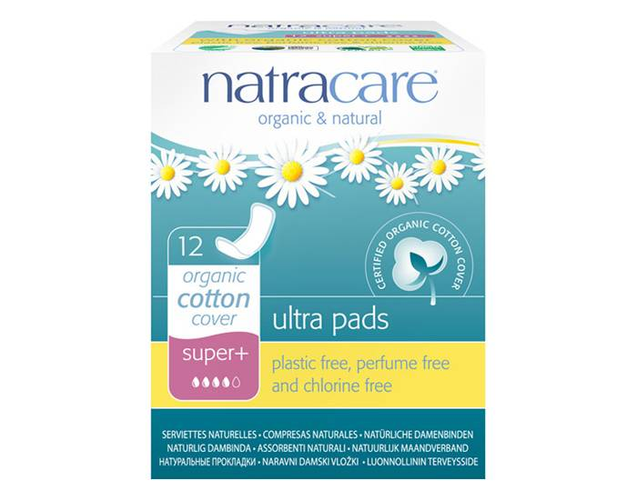 NATRACARE Pack Serviettes Hygiéniques Ultra Sans Ailettes Super+ 3 x 12 serviettes