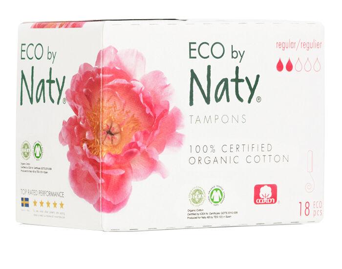 NATY Tampons Normal Sans Applicateur - Boite de 18