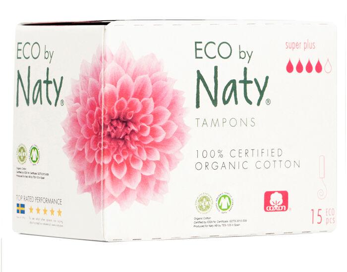 NATY Tampons Super + Sans Applicateur - Boite de 15