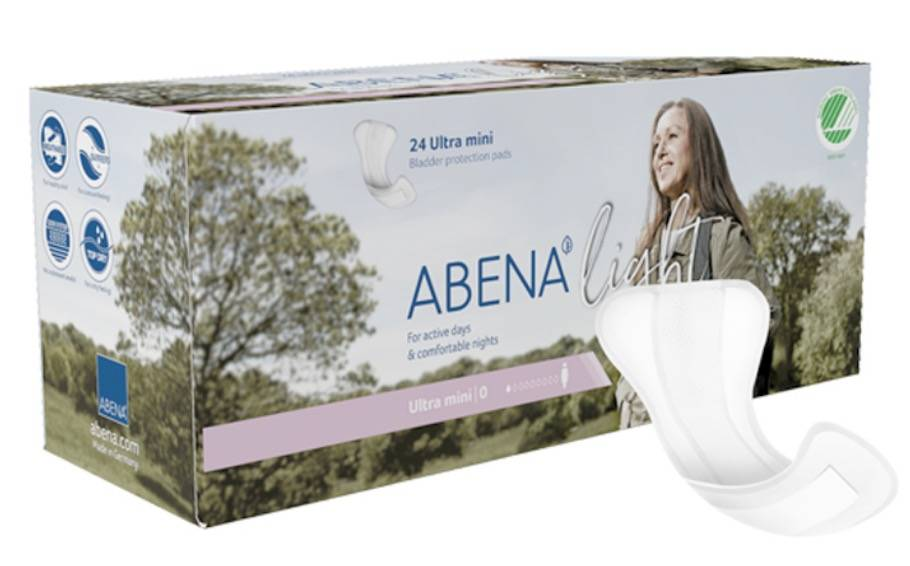 ABENA Light Protège Slip Incontinence Ultra Mini - Paquet de 24 - 100ml