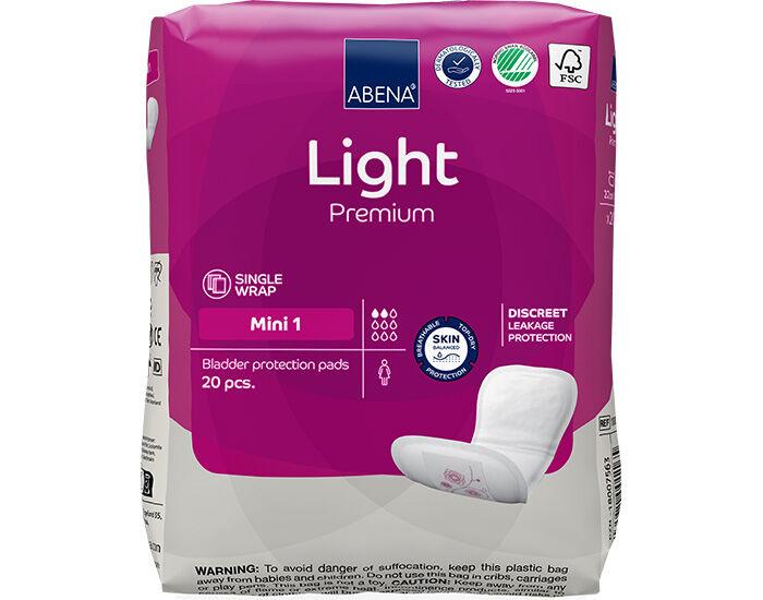 ABENA Light Protège-slip Incontinence Mini - Paquet de 20 - 180ml