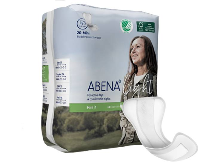 ABENA Light Protège-slip Incontinence Mini - Paquet de 20 - 180ml