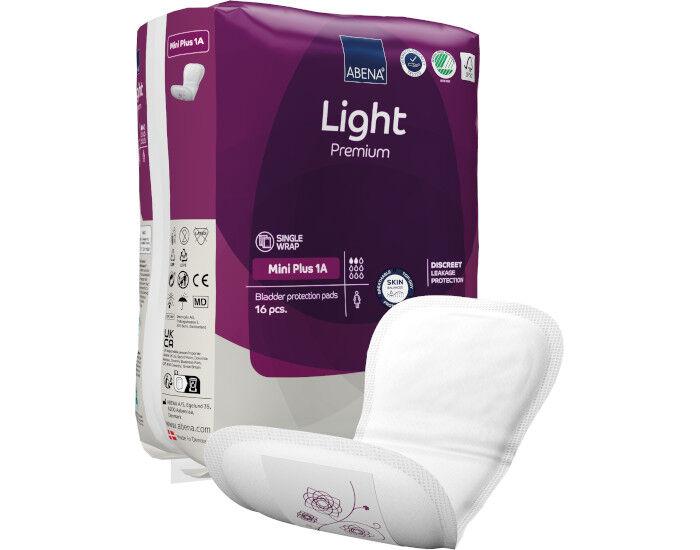 ABENA Light Serviettes Incontinence Mini Plus - Paquet de 16 - 200 ml
