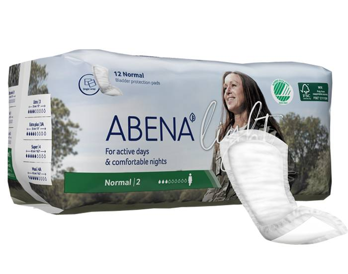 ABENA Light Serviettes Incontinence Normal - Paquet de 12 - 350 ml