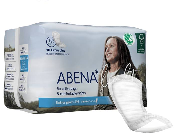ABENA  Light  Serviette Incontinence Extra Plus - Paquet de 10 - 650 ml