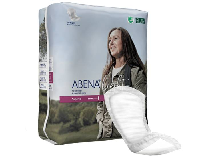 ABENA Light Serviettes Incontinence Super - Paquet de 30 - 850 ml