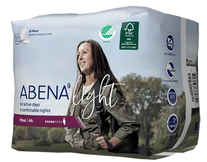 ABENA Light Serviettes Incontinence Maxi - Paquet de 8 - 1000 ml