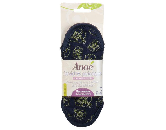 ANAé ANAE Lot de 2 Serviettes Hygiénique Coton Bio - Hibiscus Maxi