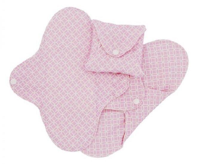 IMSEVIMSE Lot de 3 Serviettes Hygiéniques Lavables SLIM - Pink Halo Mini