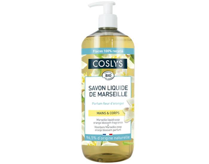 COSLYS Savon de Marseille Pure Tradition - Parfum Fleur d'Oranger 1 L