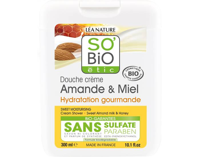 SO'BIO Crème Douche Amande et Miel - 300 ml