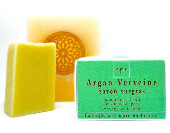 AYDA COSMETICS Savon à Froid Surgras Argan-Verveine Bio et Vegan - 100g