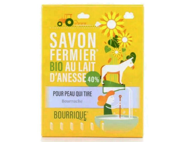 LABORATOIRE PAYSANE Savon Lait d'Anesse et Bourrache - Peaux Sèches ou Atopiques - 100 g