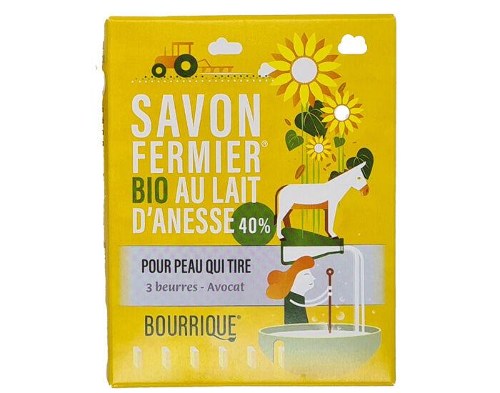 LABORATOIRE PAYSANE Savon Lait d'Anesse 3 Beurres et Avocat - Peaux Très Sèches - 100 g