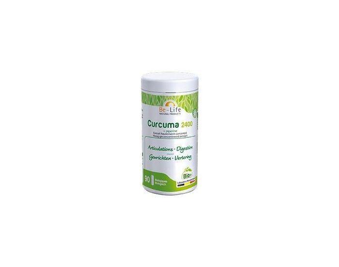 BE-LIFE Curcuma-Piperine 2400 Bio  90 gélules