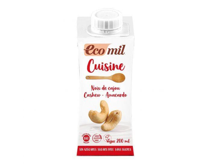 ECOMIL Crème Cuisine Noix de Cajou Nature Bio - 200ml