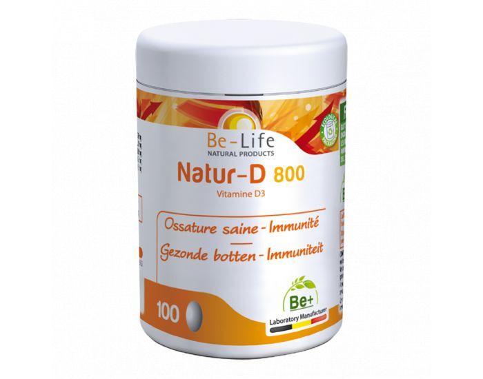 BE-LIFE Natur-D 800 (Vitamine D3) 100 capsules