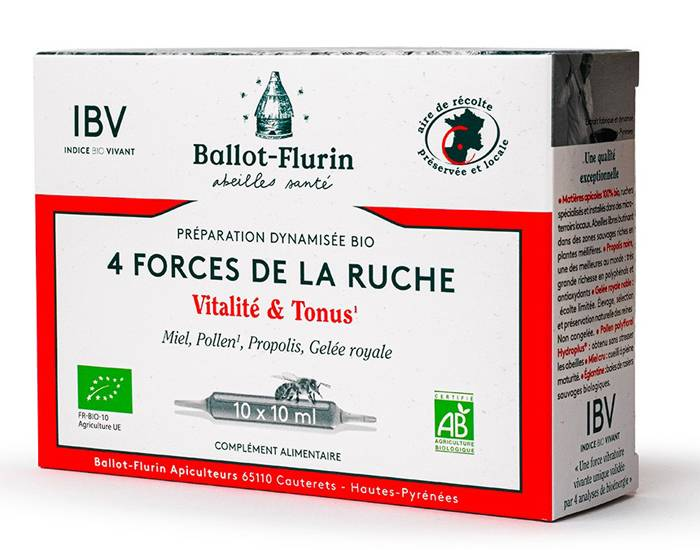 BALLOT-FLURIN Complément Alimentaire Propolis et Gelée Royale - 10 Ampoules de 10 ml - Dès 3 ans