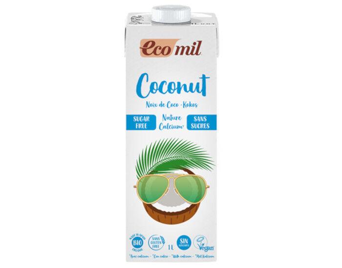 ECOMIL Lait de Coco Calcium Bio Nature - Sans Sucres - 1 L