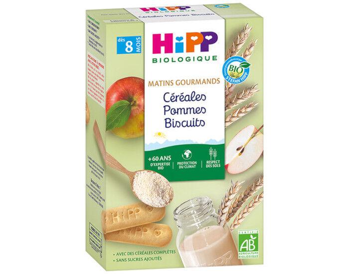 HIPP Céréales Matins Gourmands - Pommes Biscuits - Dès 8 Mois - 250 g