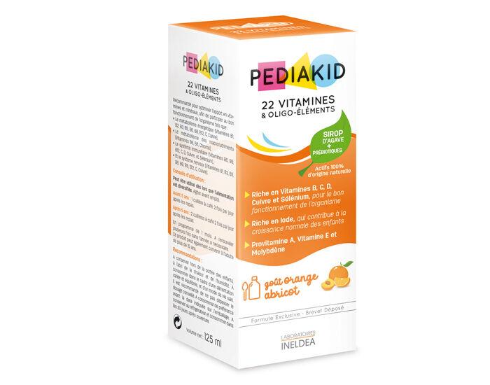 PEDIAKID Complément alimentaire 22 Vitamines et Oligo-éléments - Dès 6 mois 125 ml