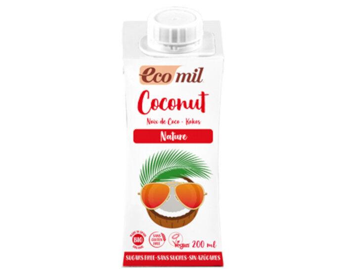 ECOMIL Lait de Coco Nature Sans Sucres - 200 ml